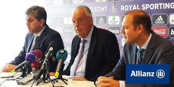 Allianz da un paso más con el Anderlecht y estampará su logo en los partidos de Champions