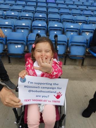 RT @BobathScotland: Pls RT @mouthwaite @k8_thornton @denise_vanouten to raise £ 4 kids w #CerebralPalsy #Gimme5 TEXT 'HIGH05 £5' to 70070 h…