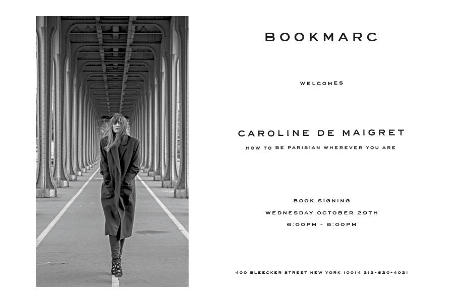 RT @NextModels: Marc your calendar — @Carodemaigret book signing at #Bookmarc NY on Wednesday, 29 October. http://t.co/InjSOt60hV http://t.…