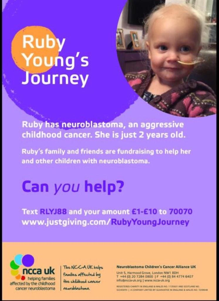 RT @Walshy76: @IMKellyHoppen pls flw & RT 2yr old #rubylaura has rare cancer needs help & support http://t.co/EZel3oqZLM tnx http://t.co/YU…