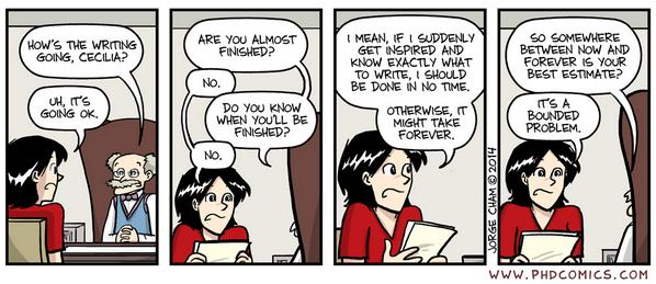 phd comics on twitter are you almost finished http t co rh twitter com almost finished synonym almost finished synonym