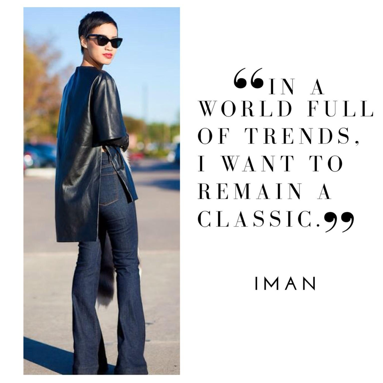 Classics never go out of style! Shop the trends & be inspired http://t.co/mQo0x4xq1n #Leather #ImanAgelessChic http://t.co/RTX0lf72wc