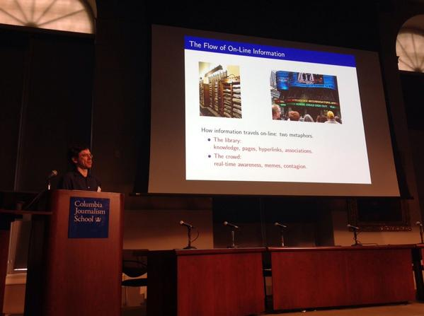 Jon Kleinberg at #cj2014 http://t.co/mPoyNMZgeJ