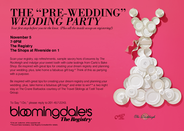 RT @tulleskirts: You're invited to this amazing #weddingregistry event w/ @Bloomingdales on 11/5! http://t.co/6QSruPx5QD http://t.co/0BIKPK…