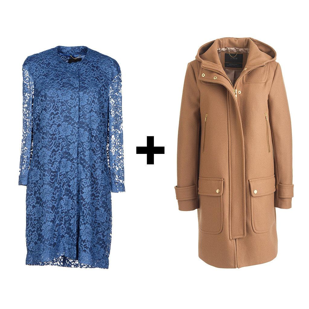 Step 1: Floral lace sheath. Step 2: Your perfect @jcrew duffle coat: http://t.co/orKxfWyvLb http://t.co/leCUTj9OR3