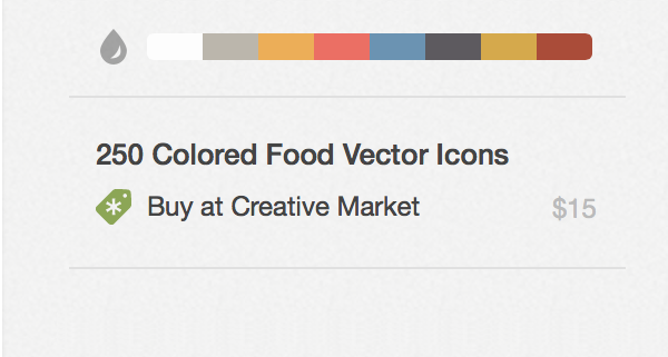 """Proud to work with @dribbble to launch official """"Buy at @CreativeMarket"""" integration! http://t.co/ZMBKKJrwlX http://t.co/3GFwqOLki0"""