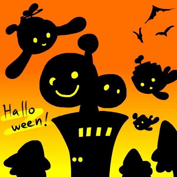 【電波人間のハロウィン2014】朝のにわとり さんのイラスト その2