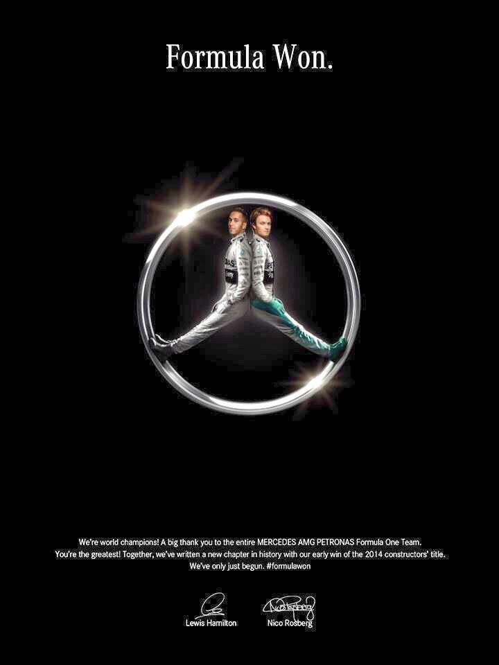 RT @Amscreen_Simon: Great #advertising from @MercedesBenz #F1 http://t.co/J93OjaCq95