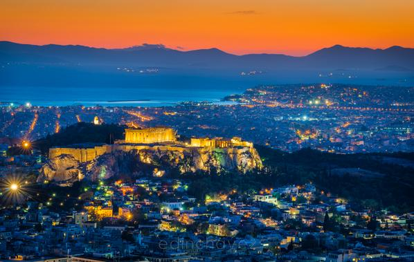 #Acropolis of #Athens, I shot this after sunset last night from #Likavitouhill #TBEX #TBEXAthens #TBEXers #tbexevents http://t.co/htyFsLwxKK