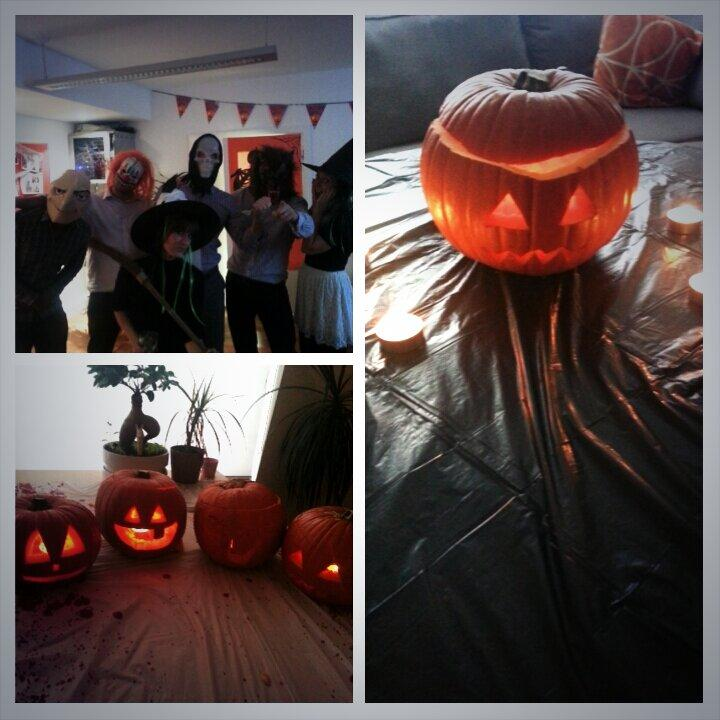 The sales team threw us an early #halloween party today. #b2bfridays http://t.co/h5esS53sfx