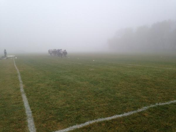 Replying to @CornellMenFC: There's a goal out in that must somewhere #mistymorning practice http://t.co/HCwUkm3s3W