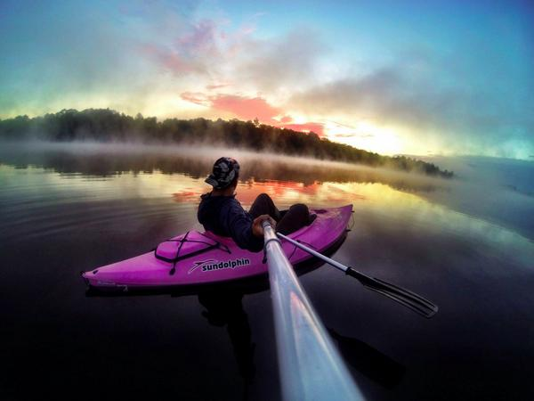 RT GoPro Photo Of The Day Alec Carrier Enjoying Solitude Sunrise On Panther Lake In New Yorkpictwitter MWjGxLvi4M