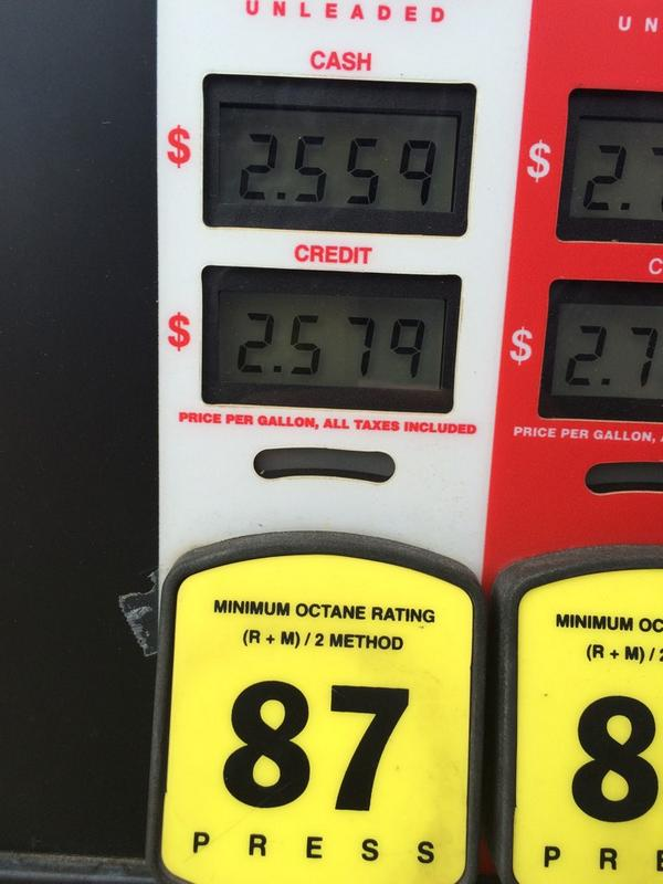 Gas prices are getting so low, people are taking photos of the signs