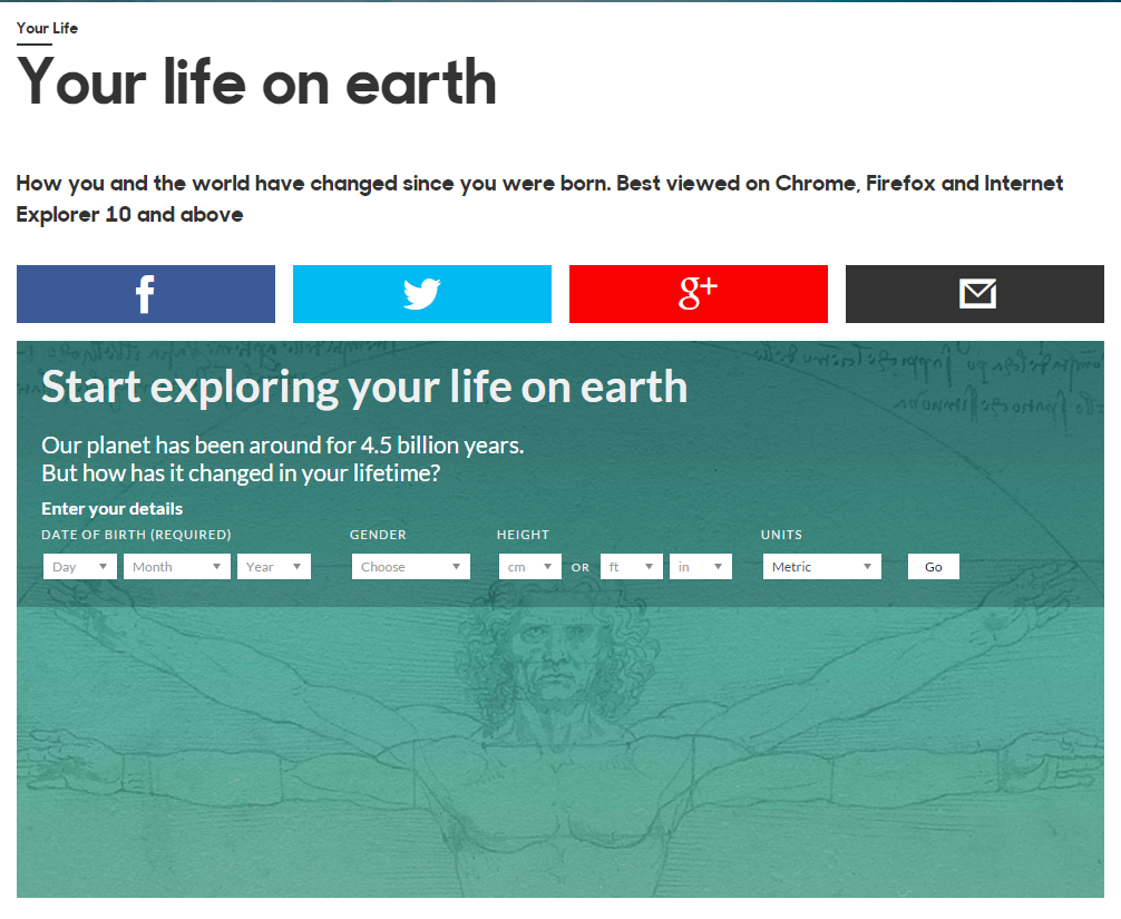 BBC's 'Your Life on Earth' project reveals how the planet has changed since your birth:  ... http://t.co/IW5Lh6pYvx http://t.co/Yo82PjuRS8