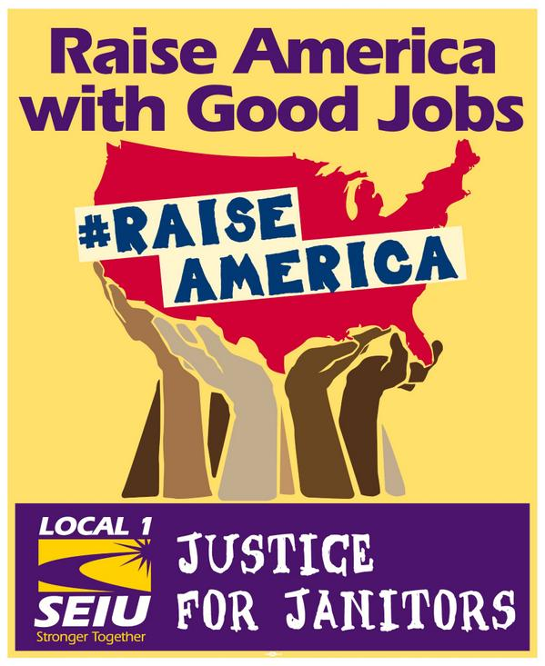 Next week, janitors across the country are rallying to #RaiseAmerica: http://t.co/vkrsmoqjQK