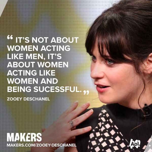 Makers On Twitter At Zooeydeschanel On Feminism Its Not About