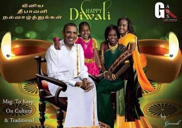 Shashi tharoor on twitter hilarious american diwali greeting card shashi tharoor on twitter hilarious american diwali greeting card showing the obamas looking very much at home in south indian garb m4hsunfo