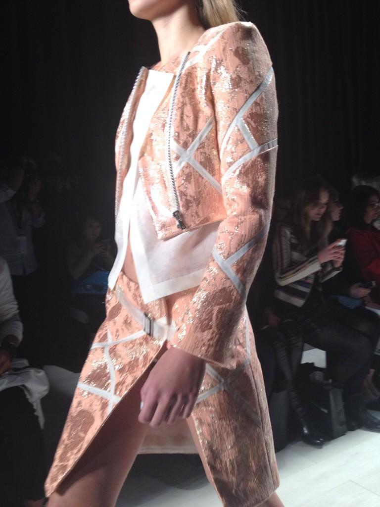 Up close and personal with the intricacy of @mikhaelkale #ss15 #wmcfw http://t.co/zb59zBZWaE