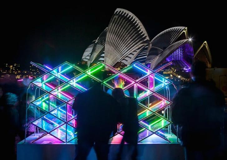 Kaleido Wall transforms Sydney Opera House - see it here: http://t.co/MENyKCAfI7 #art http://t.co/hgG4EtPyna