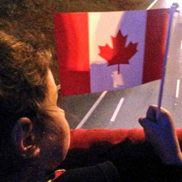 Today we sang O Canada above the #HighwayOfHeroes & learned about honour, sacrifice & respect because of Cpl. Cirillo http://t.co/MtvombwC7p