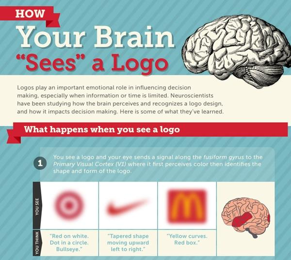 How our brains see logos - take a look at the infographic here: http://t.co/S8O5O3707A #marketing http://t.co/HZLwEju9CO