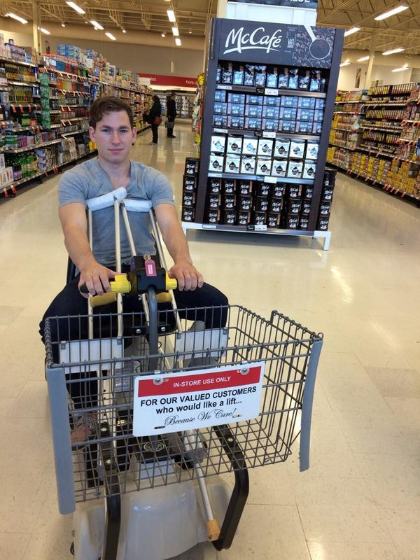 My ride at the grocery store #IRproblems http://t.co/t03gJjWryU
