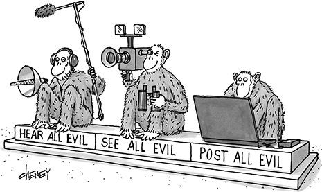 The 3 Wise Monkeys - reimagined for the 'Internet Age' from @NewYorker http://t.co/sG5D9peAzE