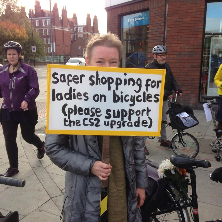 """RT @THWheelers: """"Safer shopping for ladies on bicycles (please support the CS2upgrade)"""" http://t.co/PqPbkoLnKD"""