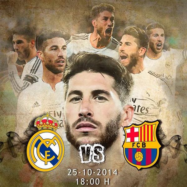 """@SergioRamos: Almost no time left for el clasico. Let's go team..!! Let's go Madrid..!! http://t.co/u1qFjHWV4j""  #HalaMadrid Good Luck❤️"