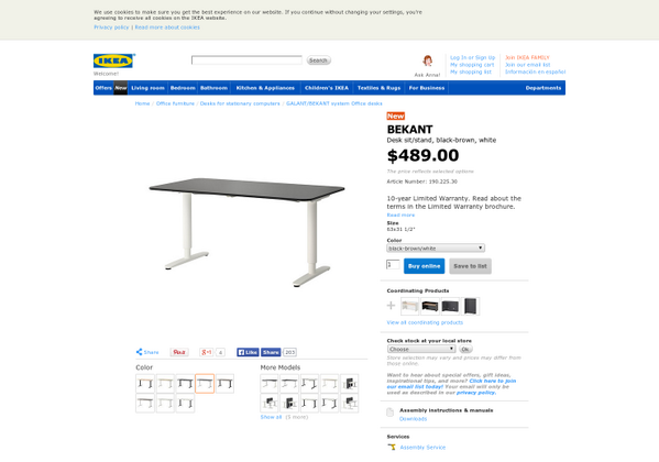 product hunt on twitter ikea bekant standing desk new motorized standing desk from ikea httptcoiy48j4ohjw via hnshah on producthunt bekant desk sit stand ikea