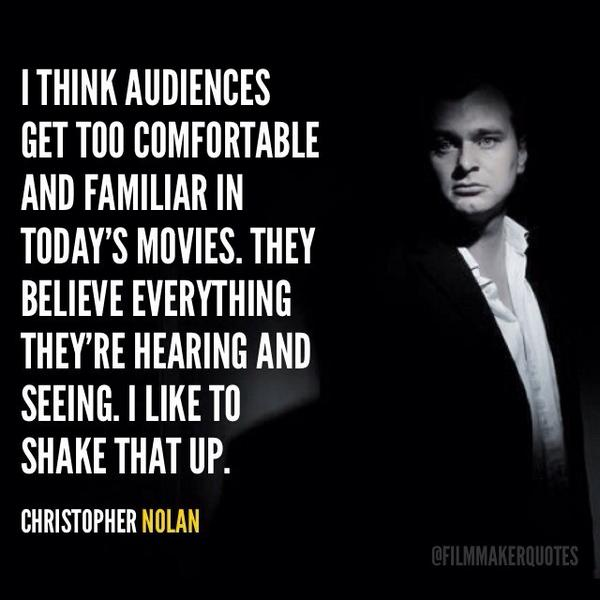 Film Director Quotes On Twitter I Think Audiences Get Too