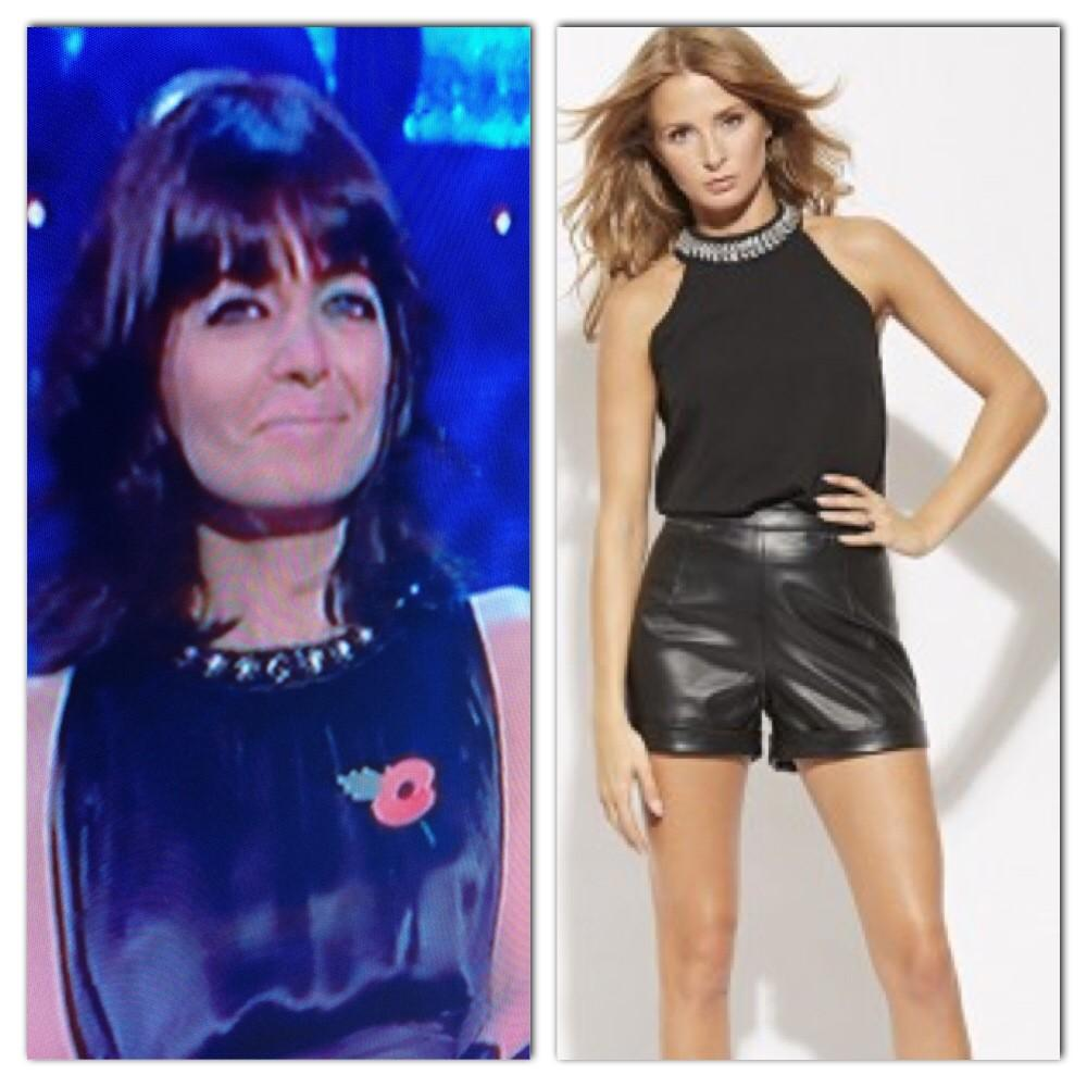 RT @MillieMClothing: Any of you watching #StrictlyComeDancing ? #StealTheStyle of @ClaudiaWinkle with the embellished neck top! #Love http:…
