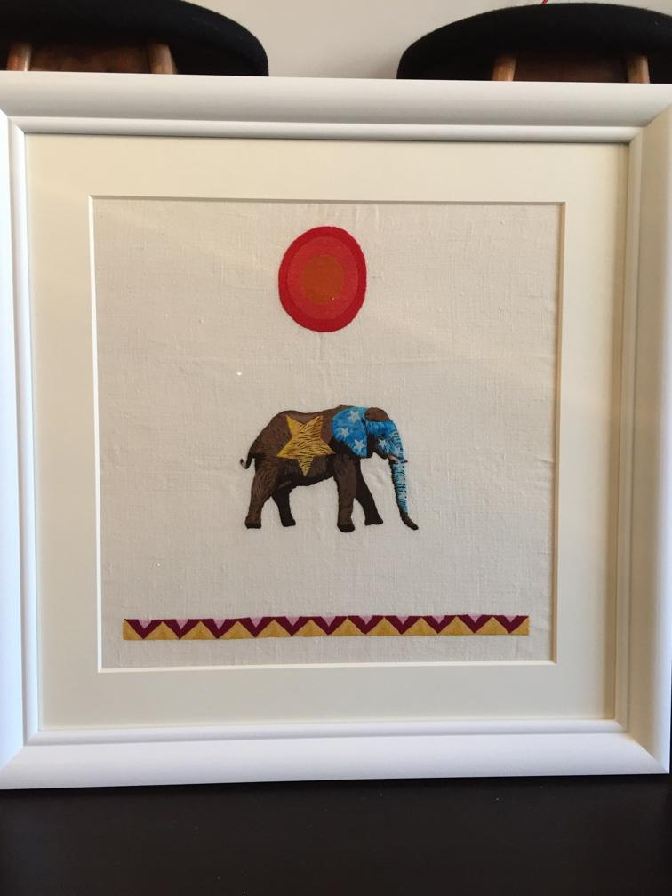 Such a gorgeous gift from @indego_africa for Otis's bedroom! Hand-embroidered by artisans in Rwanda. Lucky kid. http://t.co/2Xt9Tpv6lR