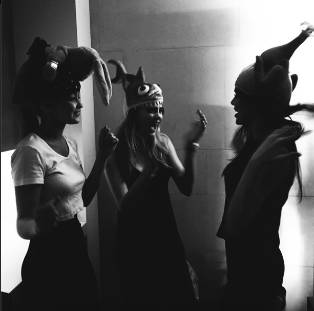 Cara Delevingne and Kendall Jenner had a hat party, and it looked awesome: http://t.co/qdjkunNdpB http://t.co/VmySzjkXEL