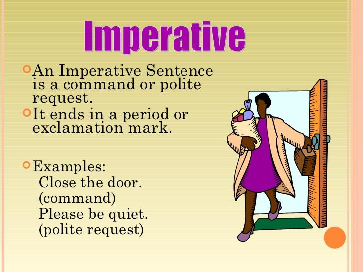 Be An Grammar Nerd On Twitter Imperative Sentence Is Command Or