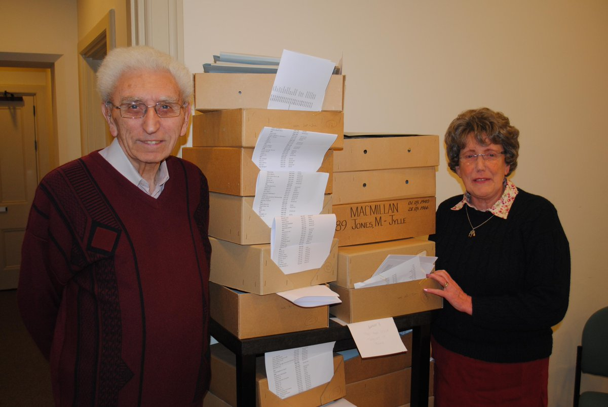 Jan and Ron have been volunteering with our archives team for 20 years! #explorearchives #Dayinthelife http://t.co/62Y483cOzB