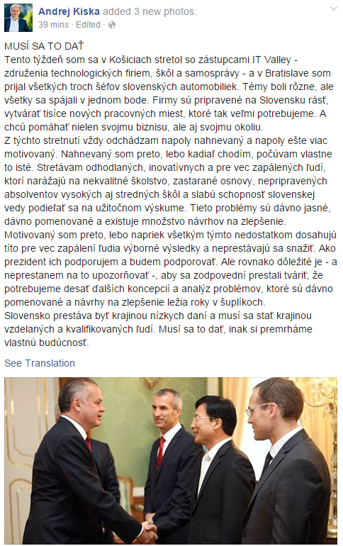 Je smutné, když tohle člověk čte od prezidenta. Ale jen kvůli tomu, že to nemůže číst od našeho nebo od české vlády. http://t.co/C9nbvVeWf6