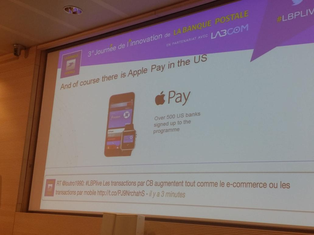 #LBPlive #ApplePay : over 500 US Banks signed up to the programme via @jeremynicholds http://t.co/w4EG3WbM7N""