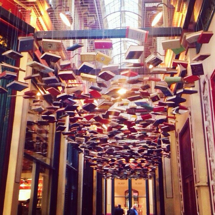 #printisnotdead Just stumbled across this incredible cloud of floating reading books at Leadenhall Market