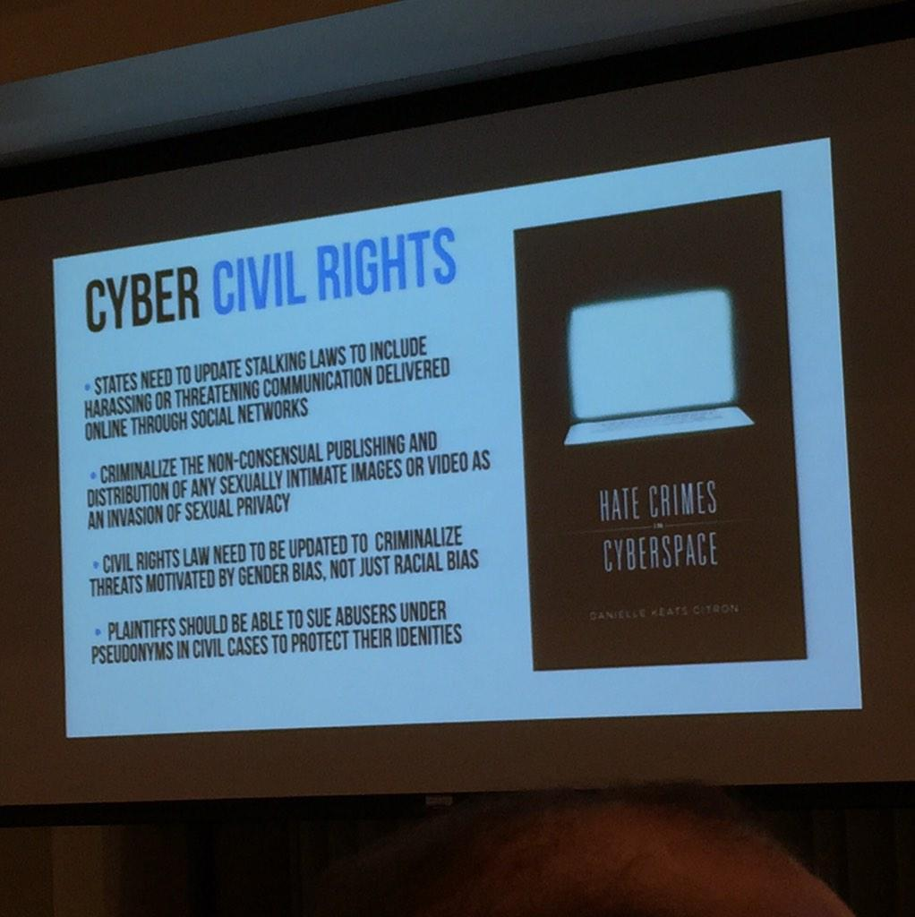 Here's one proposal by @femfreq on how to prevent harassment in cyberspace. #digethics4 http://t.co/ie2aG3d6RP