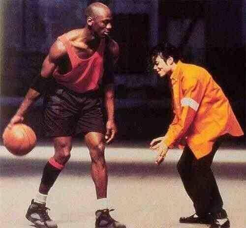 Michael Jordan And Michael Jackson Playing Basketball Michael Jackson Playing