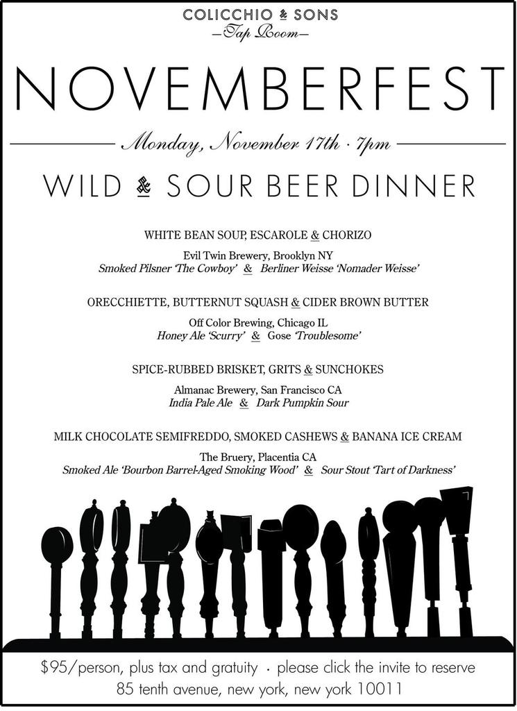 2 amazing tasting dinners @Colicchio_Sons Nov 17-18. @ChaseRabenn Wild/Sour Beer Dinner& @tomcolicchio Truffle Dinner http://t.co/R4EFi3NTcm