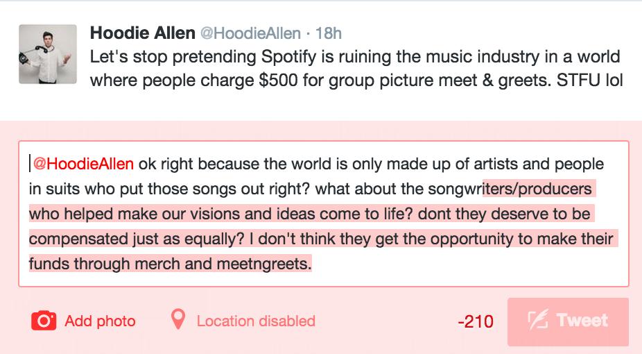 Hoodie allen on twitter lets stop pretending spotify is ruining hoodieallenpicitterkh3u3h1jlp m4hsunfo