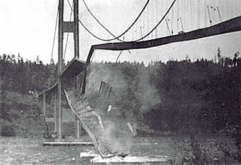 #OnThisDay in 1940, the Tacoma Narrows Bridge collapsed in high wind, 4 months after it's dedication. #Q13Fox http://t.co/dC38abqzhU