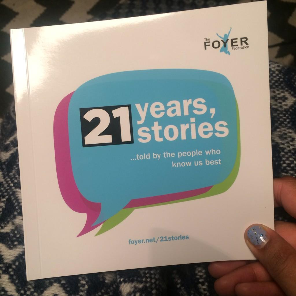 Picked this beauty up at #CreativeCollisions yesterday: @FoyerFederation's 21 years, 21 stories.  V powerful http://t.co/GMKhugBYJe