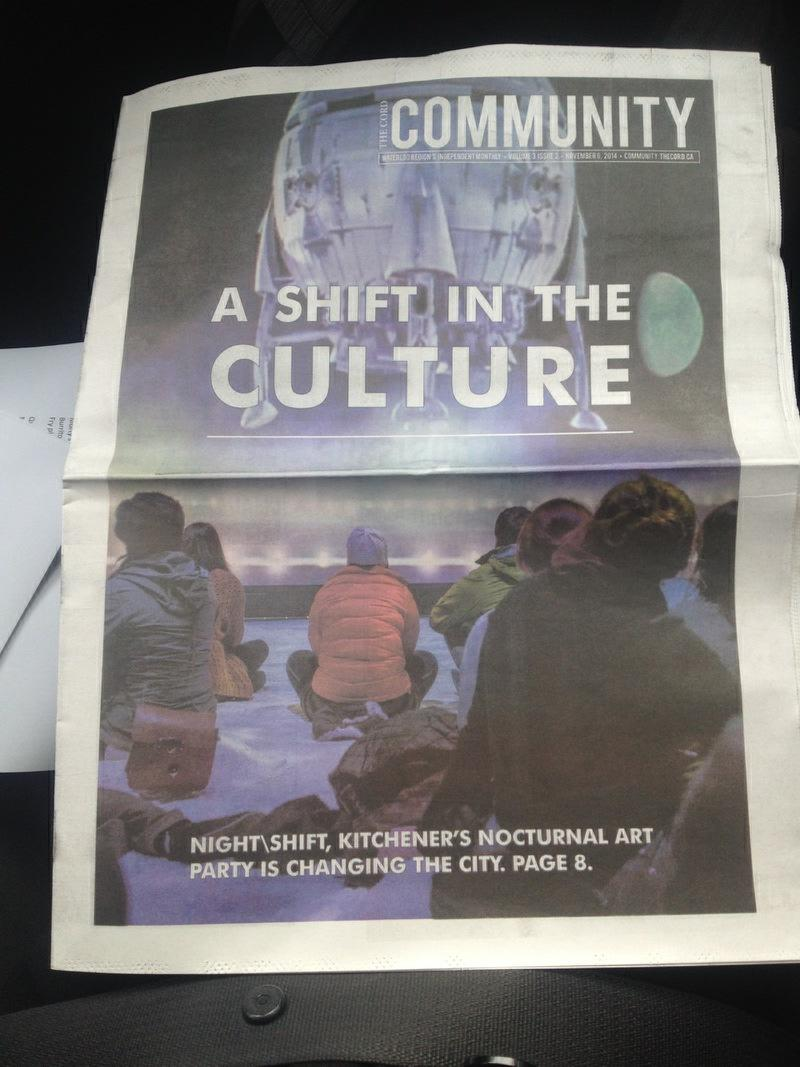 Sat's #kwawesome #niteshift14 fest video by WLU's @cordnews:  https://t.co/ciMuf9Nhv9 + We made @CordCommunity cover! http://t.co/kmnNfJxWBc