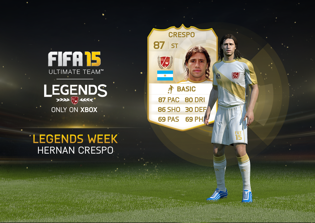 RT with #LegendsWeek for a chance to win an untradeable @Crespo! #FUT #Xbox http://t.co/gKvblLwDup
