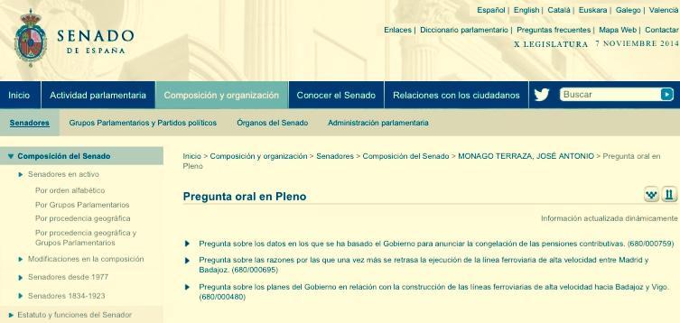 Estadísticas senador Monago : 3 preguntas orales en Pleno en 3 años y 32 viajes a Canarias en 18 meses. Un sin vivir. http://t.co/k76zk9smkB
