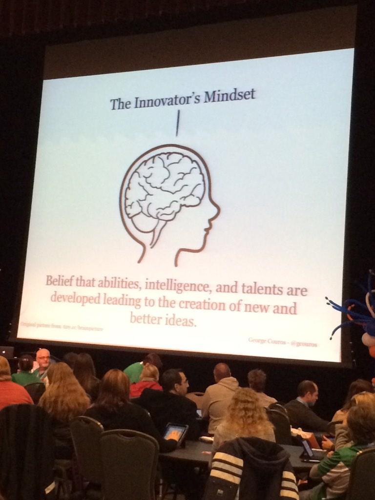 The innovators mindset! #bit14 #bit14couros http://t.co/kz9apGF4EQ