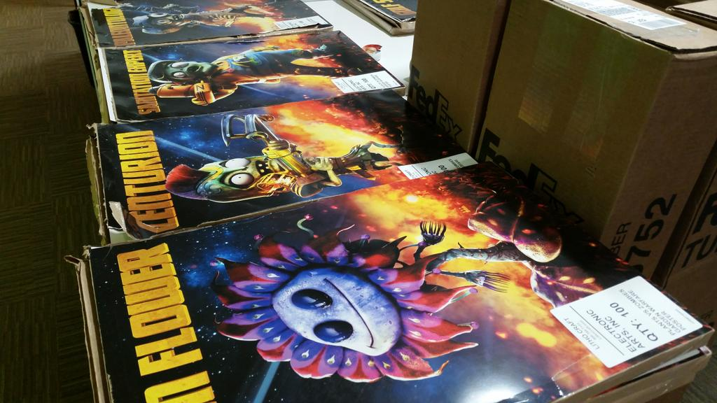 #PvZGW poster set give away! Retweet for a chance to be selected. More sets given away on PvZ Twitch from 3:00pm PDT. http://t.co/E6lv2l7182